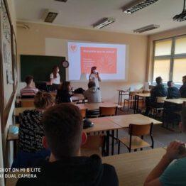 Prelekcje dotyczące honorowego krwiodawstwa w ZSA w Słupsku