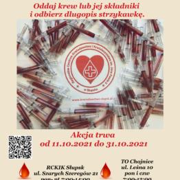 Oddaj krew lub jej składniki i odbierz długopis strzykawkę (11.10-31.10.2021)